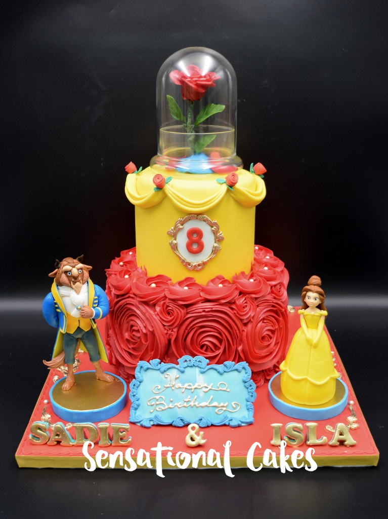 The Sensational Cakes Beauty And The Beast Theme Birthday Cake