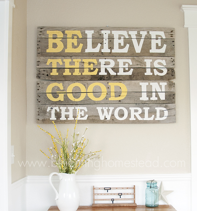 Pallet wall quotes quotesgram