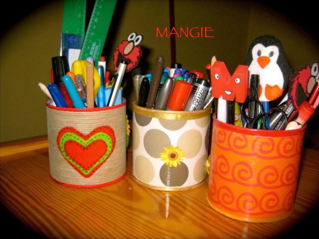 Reciclado latas lapiceros artemangie for Lapiceros reciclados manualidades