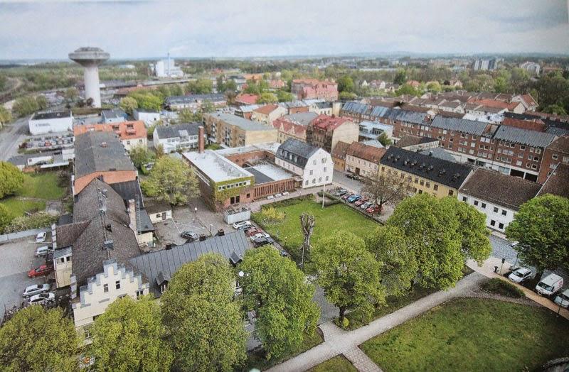Kristianstad dall'alto