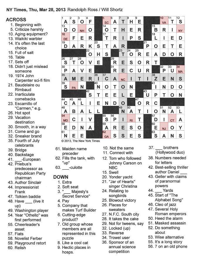 WEB s L A Times Crossword Solution LAXCrossword com