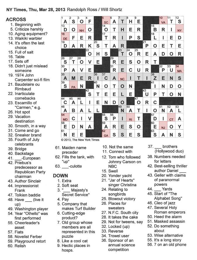 New+York+Times+Crossword+by+Randolph+Ross+edited+by+Will+Short