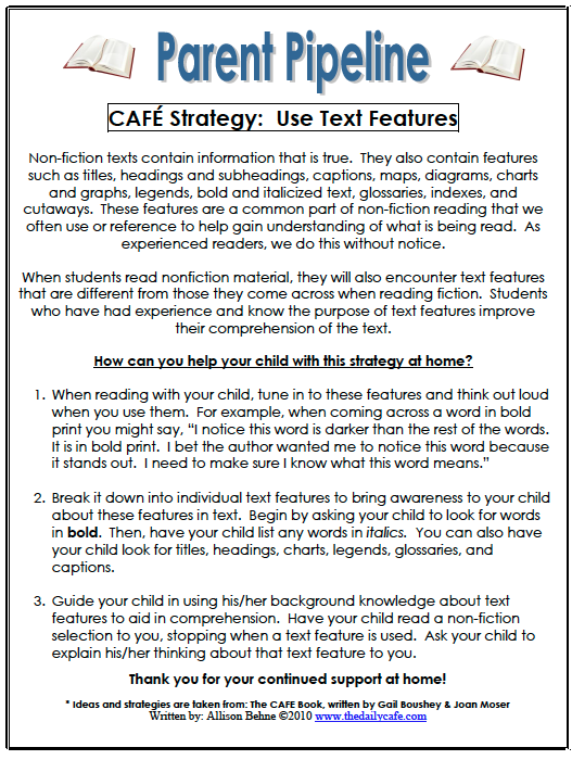 Successful Non Fiction Readers Make Use Of These Features To Improve Their  Comprehension. See Below For A Parent Communication About Supporting Your  Kiddosu0027 ...