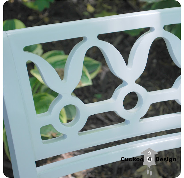 refinished vintage white chair with valspar gloss spray paint