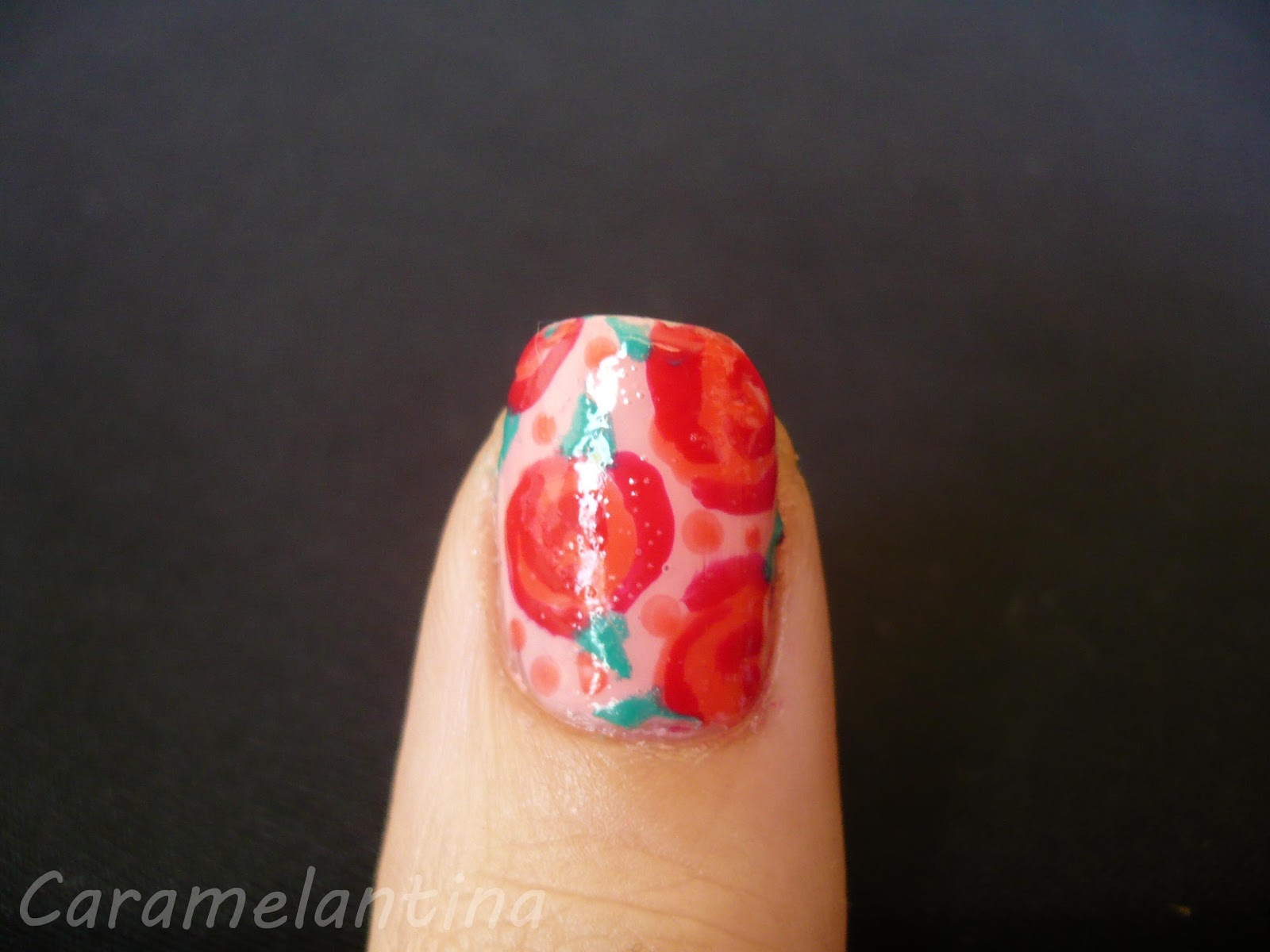 Nail art flores, rosas, tutorial