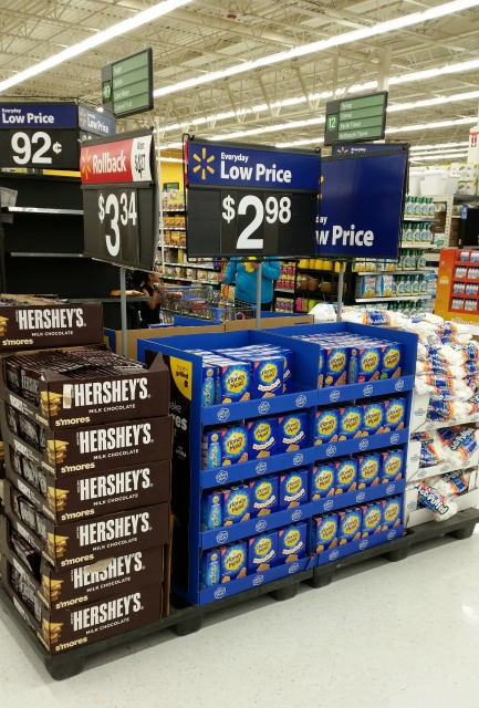 Walmart has all the supplies you need for s'mores in one convenient place