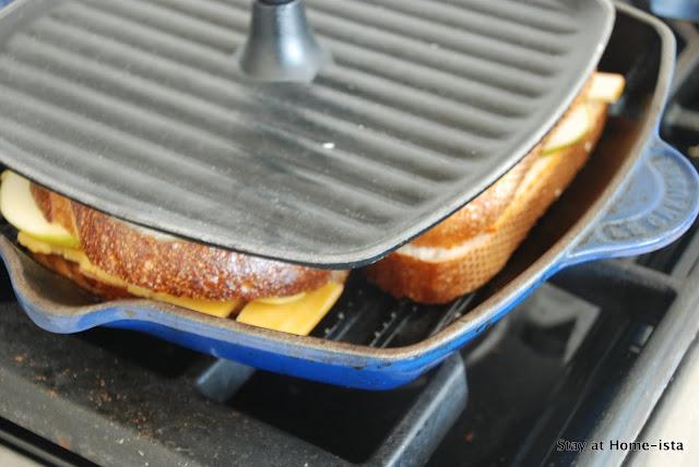 Panini Recipes - use a Le Creuset grill pan with panini press