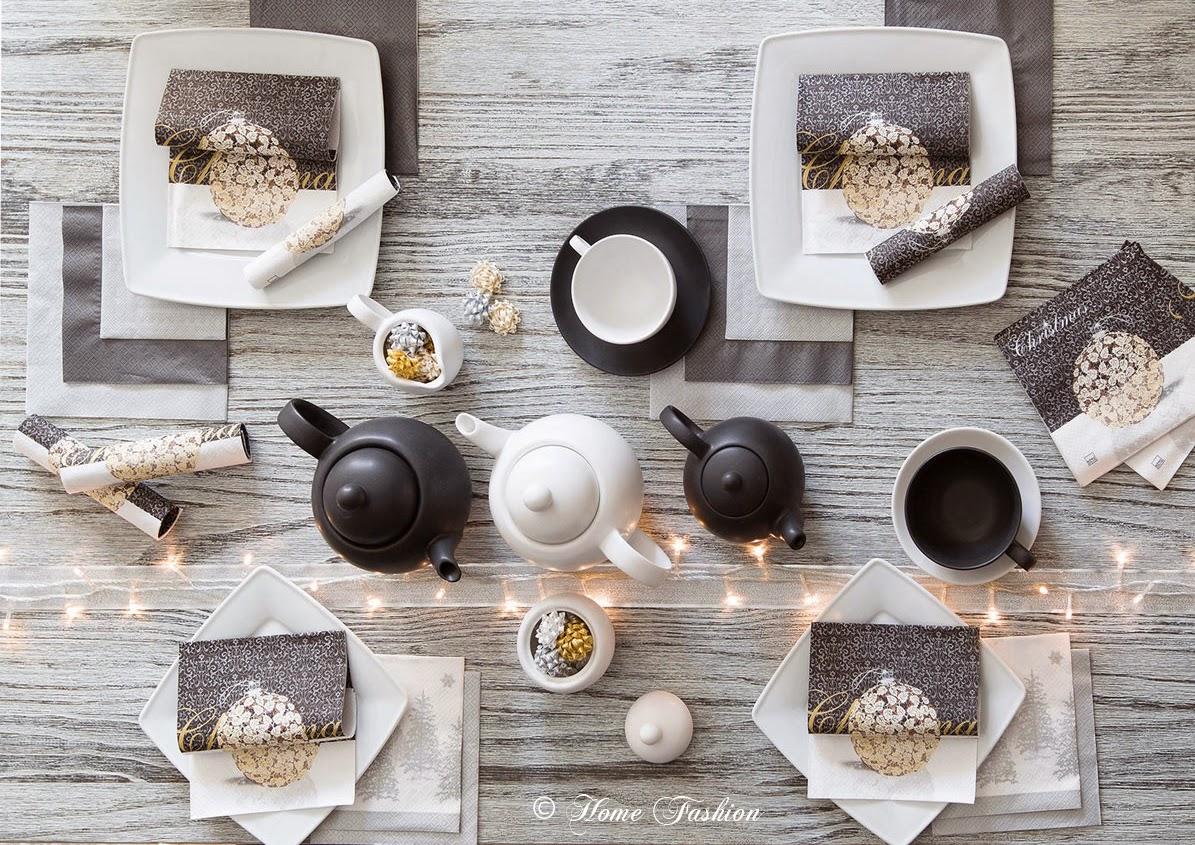 Moderne Tischdekoration Fur Weihnachten Home Fashion Servietten