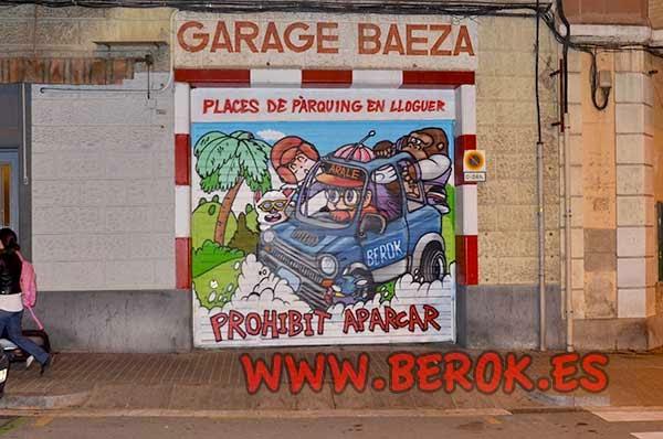 Graffiti persiana Arale Barcelona