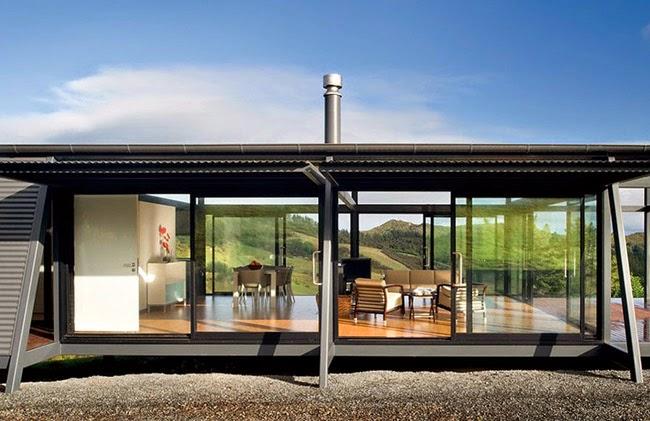 Casas minimalistas y modernas vivienda industrializada en nueva zelanda - Casa nueva viviendas ...