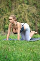 Jordan Carver yoga