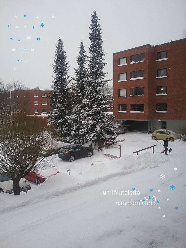 * lumihiutaleita näppäimistöllä