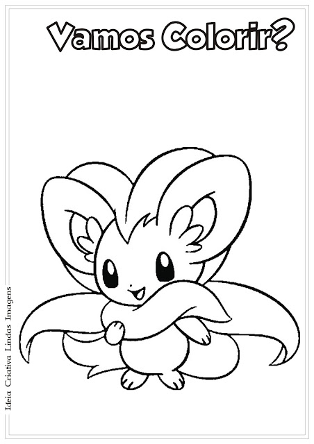 Pokemon Cinccino para colorir