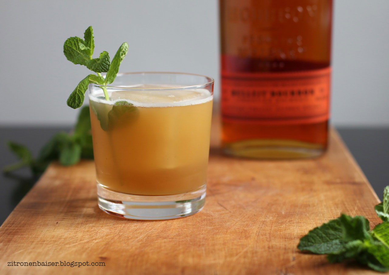 Drink Cocktail Apple Mint Julep Apfel Minze Bourbon