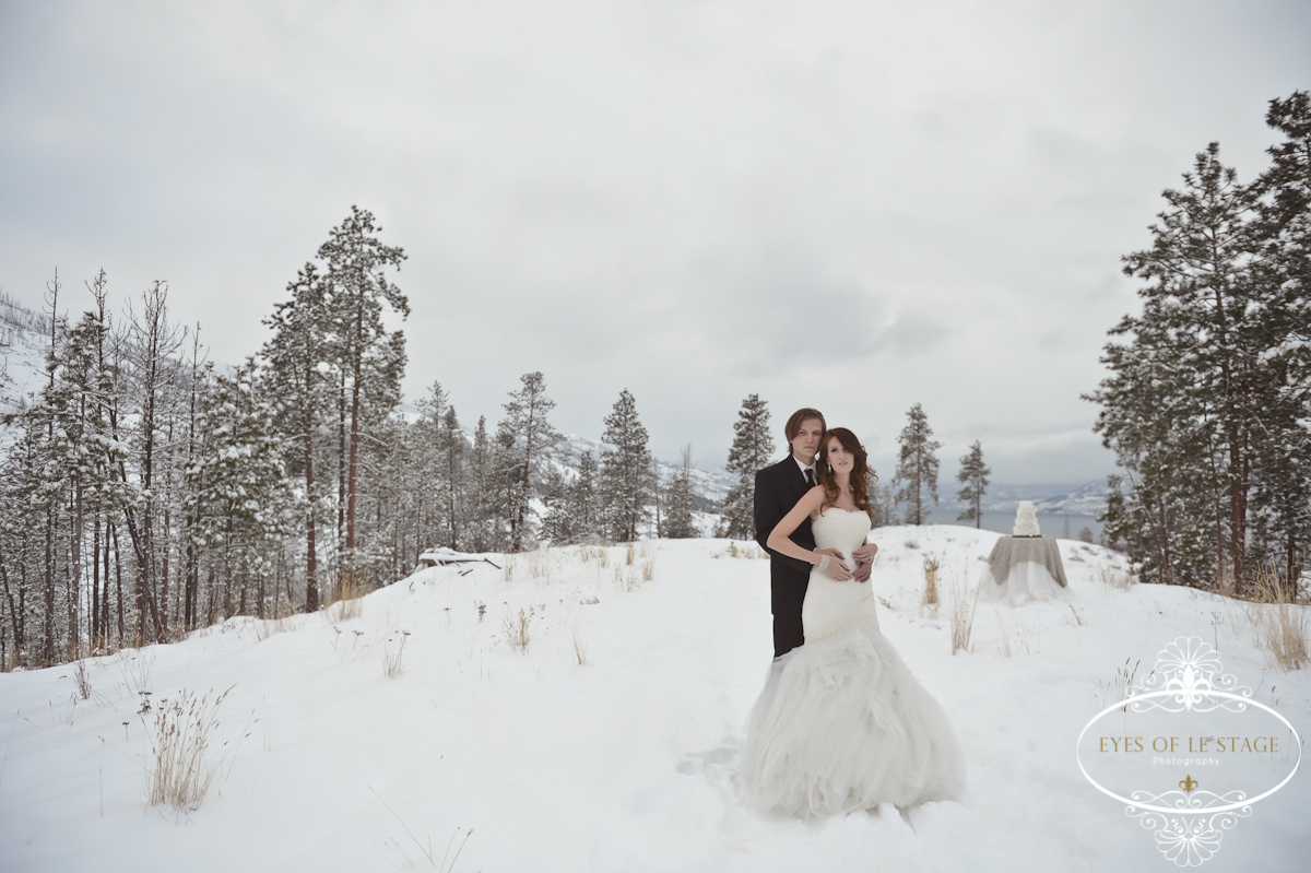 Intimate Winter Wedding in the Snow - Okanagan, Kelowna, B.C. Canada