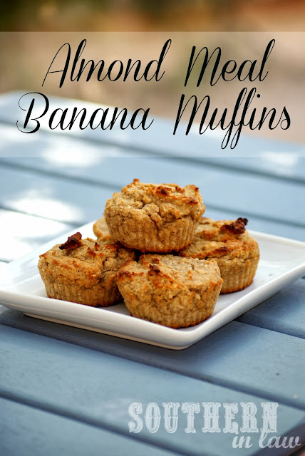 Healthy Banana Almond Meal Muffins- Gluten free, vegan, sugar free