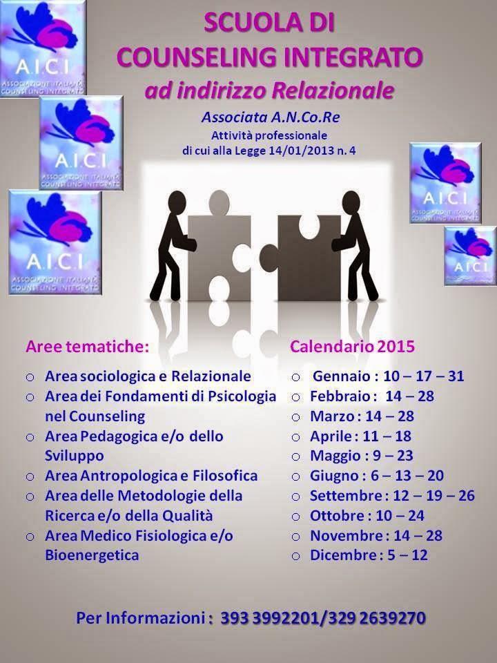 SCUOLA DI COUNSELING INTEGRATO RELAZIONALE A.I.C.I.