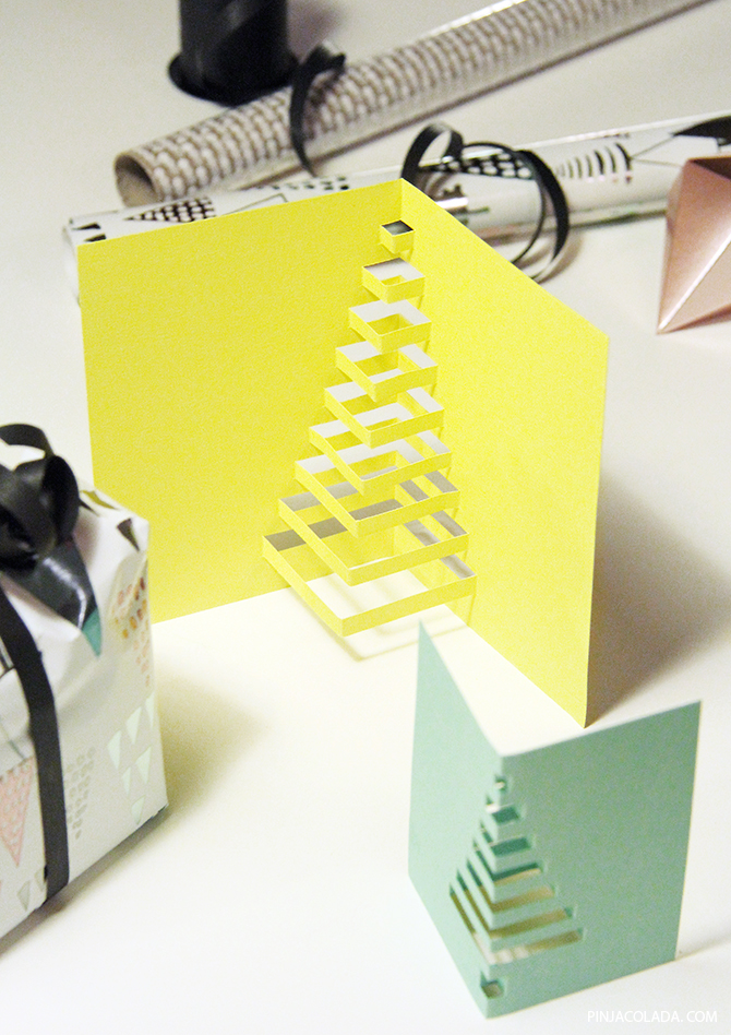 Pinjacolada diy cut out christmas cards for Easy diy christmas cards