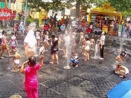 Bermain air di Taman Pintar Yogyakarta