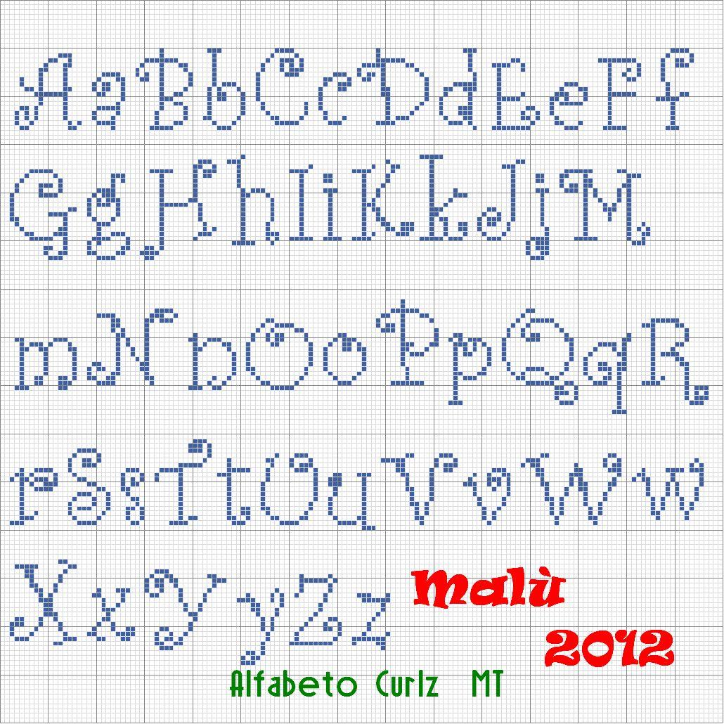 1000 images about punto croce cross stitch point de crois for Alfabeto punto croce grande
