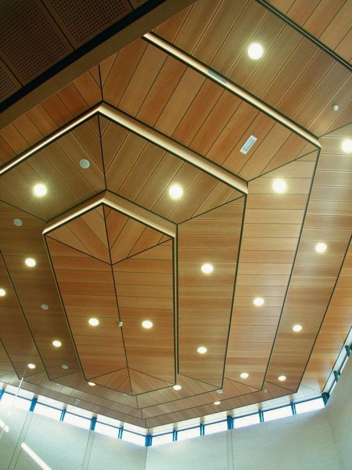 Stylish wood ceiling panels collection from hunted douglas - Different types of decorative ceiling tiles you can find ...