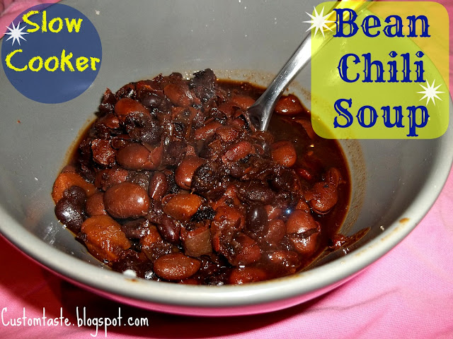 Slow Cooker Bean Chili Soup by Custom Taste