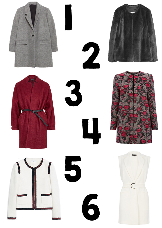 AW15 COAT EDIT, ZARA, WAREHOUSE, MANGO, TOPSHOP