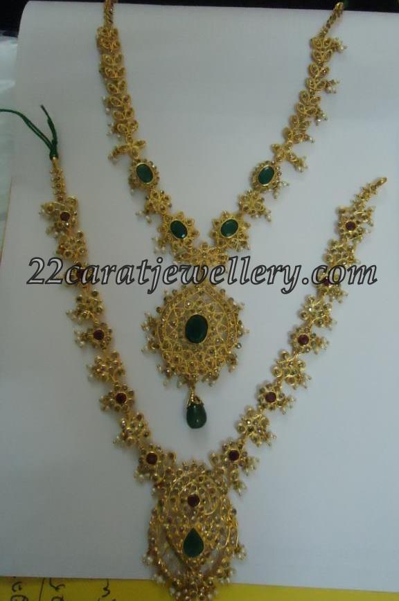 kundan jewellery necklace with price