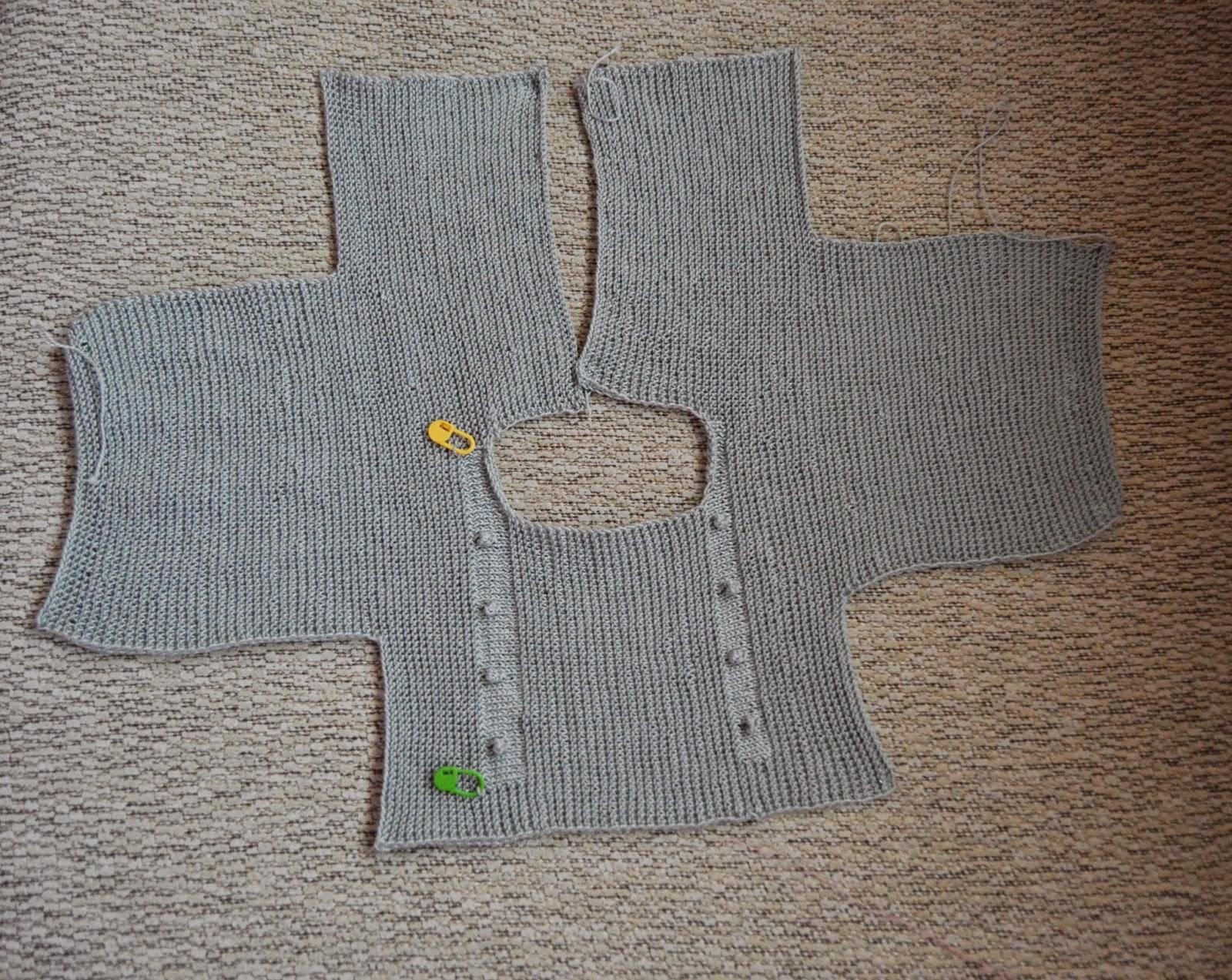 Tutorial vestido con jersey de punto con volantes y falda - Como hacer un jersey de punto ...