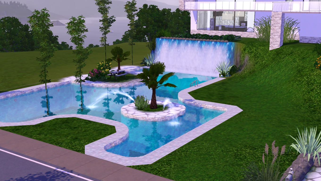The sims giuly download e tutorial di the sims 3 pool for Migliori progetti di pool house