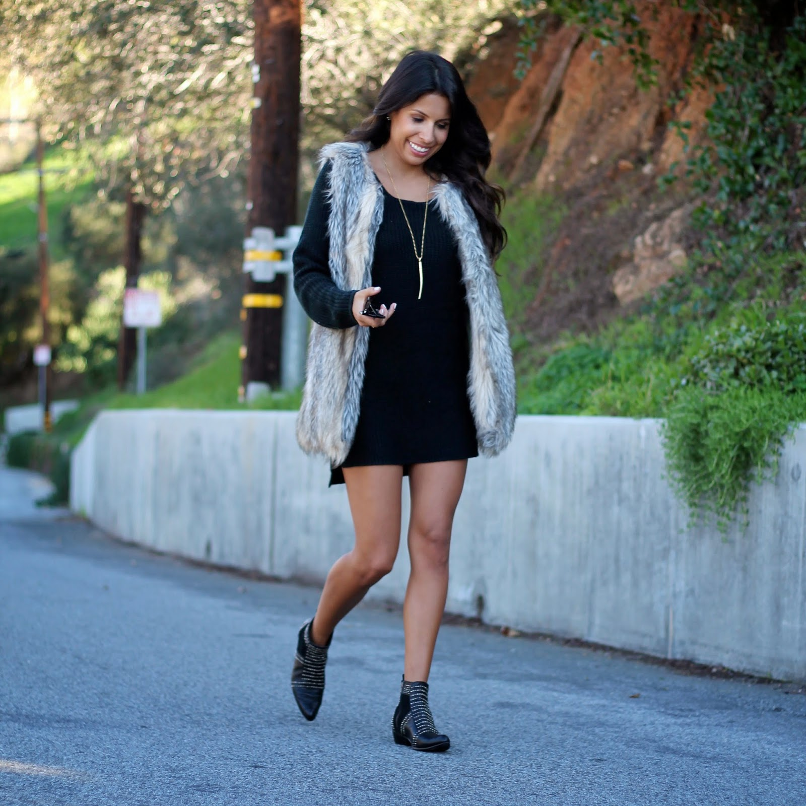 how to style fur vest, target style, fashion, pursuit of shoes, anine bing