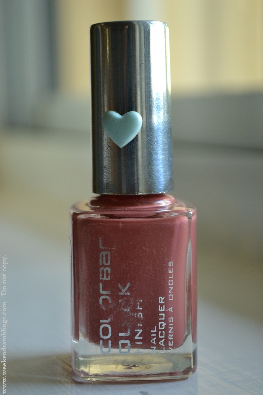 colorbar nail laquer polish swatch notd review baby rose
