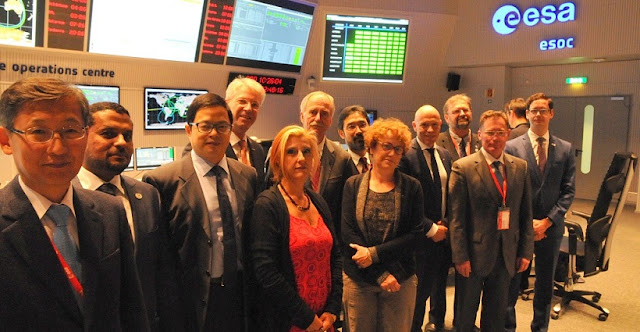 Representatives from 14 space agencies met on Wednesday, Oct. 7. Credit: ISECG