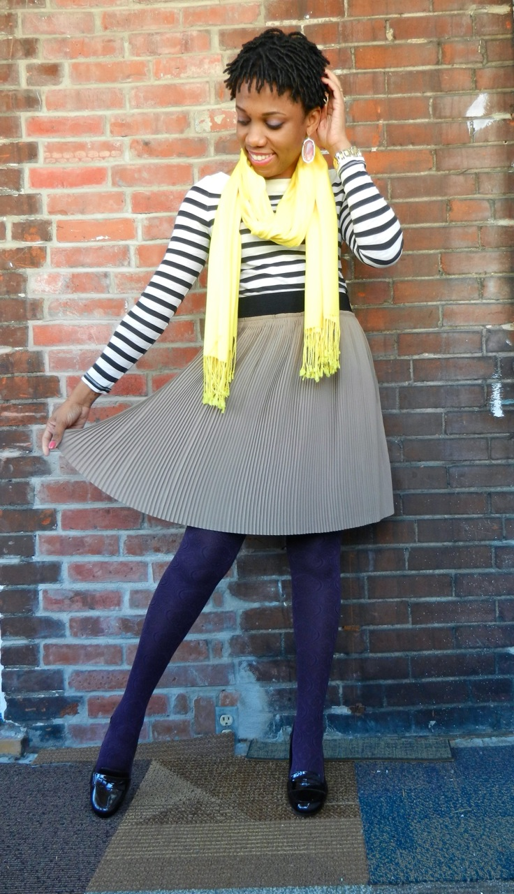 Casual Friday:  Pleats and Stripes
