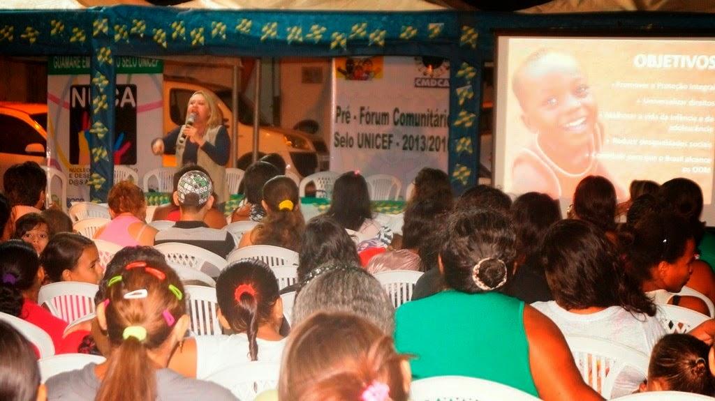 2º PRÉ – FÓRUM COMUNITÁRIO DO SELO UNICEF EM BAIXA DO MEIO/ SANTA PAZ, ENCRUZILHADA, NOVA JERUSALÉM