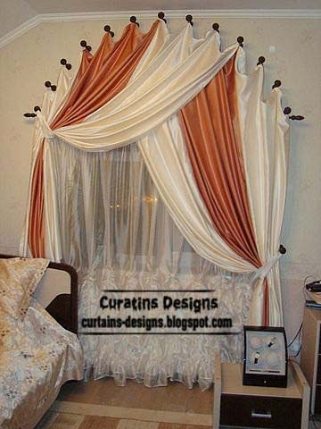 Arched windows curtain designs ideas for bedroom Window curtains design ideas