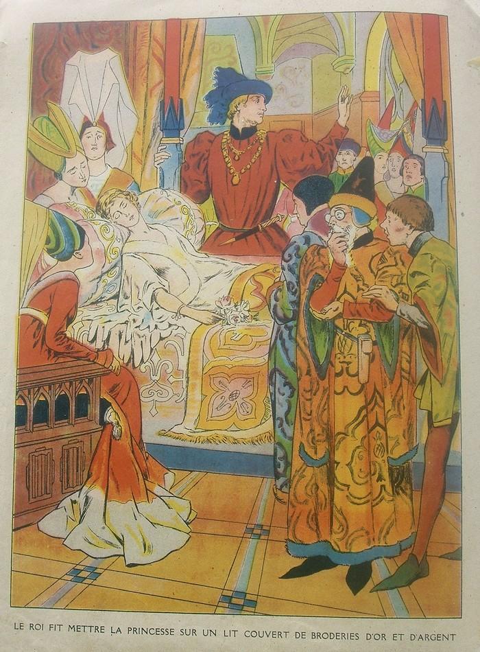 Images dautrefois La belle au bois dormant, illustration ancienne ~ Illustration La Belle Au Bois Dormant