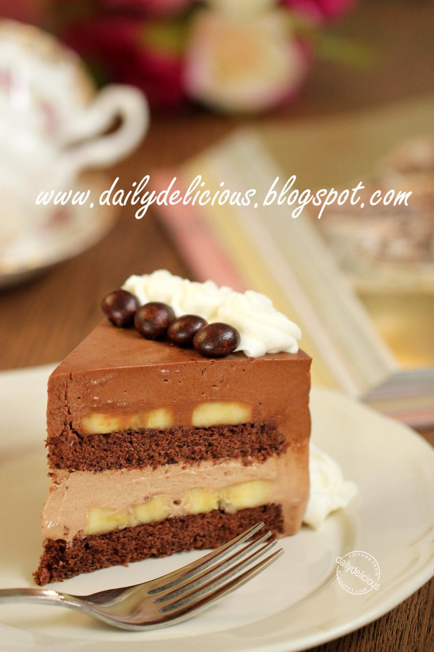 dailydelicious: Chocolate Banana Mousse Cake: Banana Choco Cake for ...