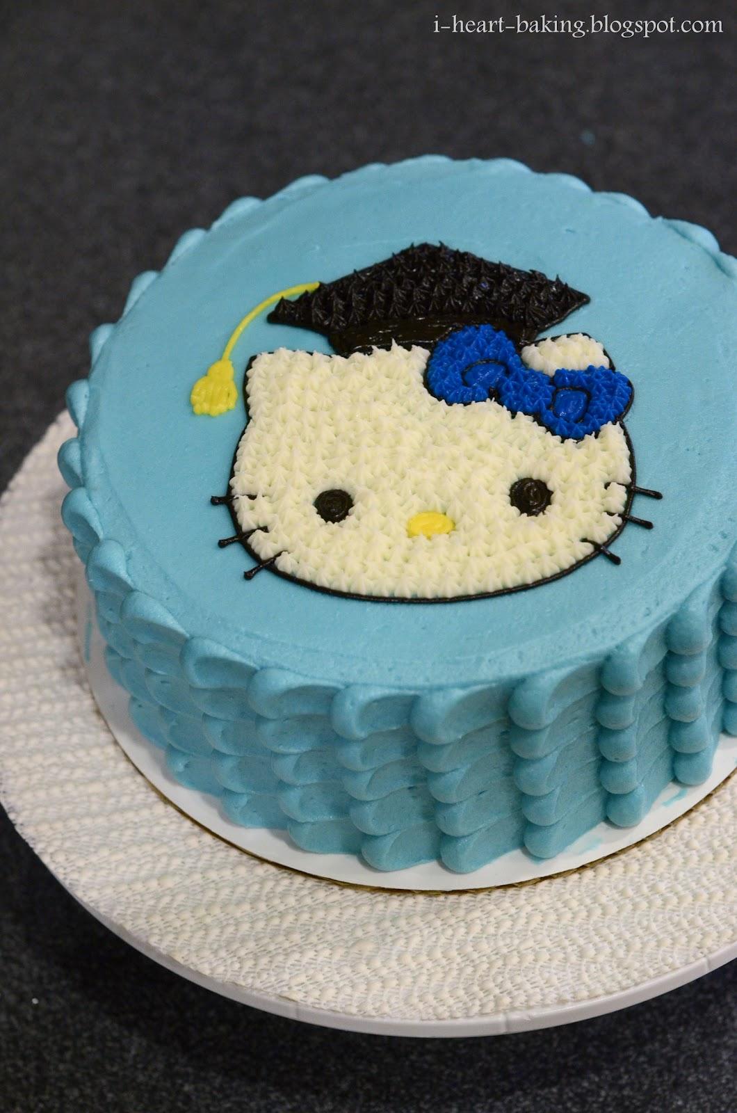 Cake Hello Kitty Blue : i heart baking!: August 2012