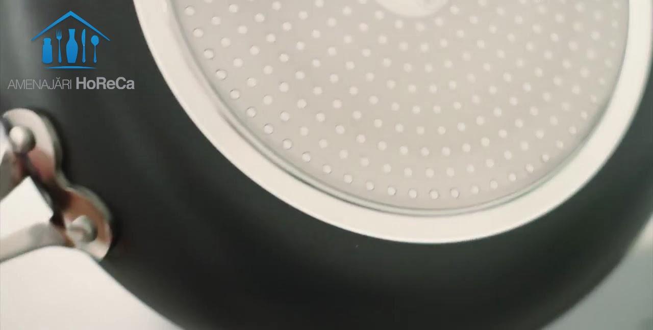 Tigaie Ceramica pe Inductie, Pret Tigaie 170 RON, Cu strat antilipire gri din nanoceramica, www.amenajarihoreca.ro