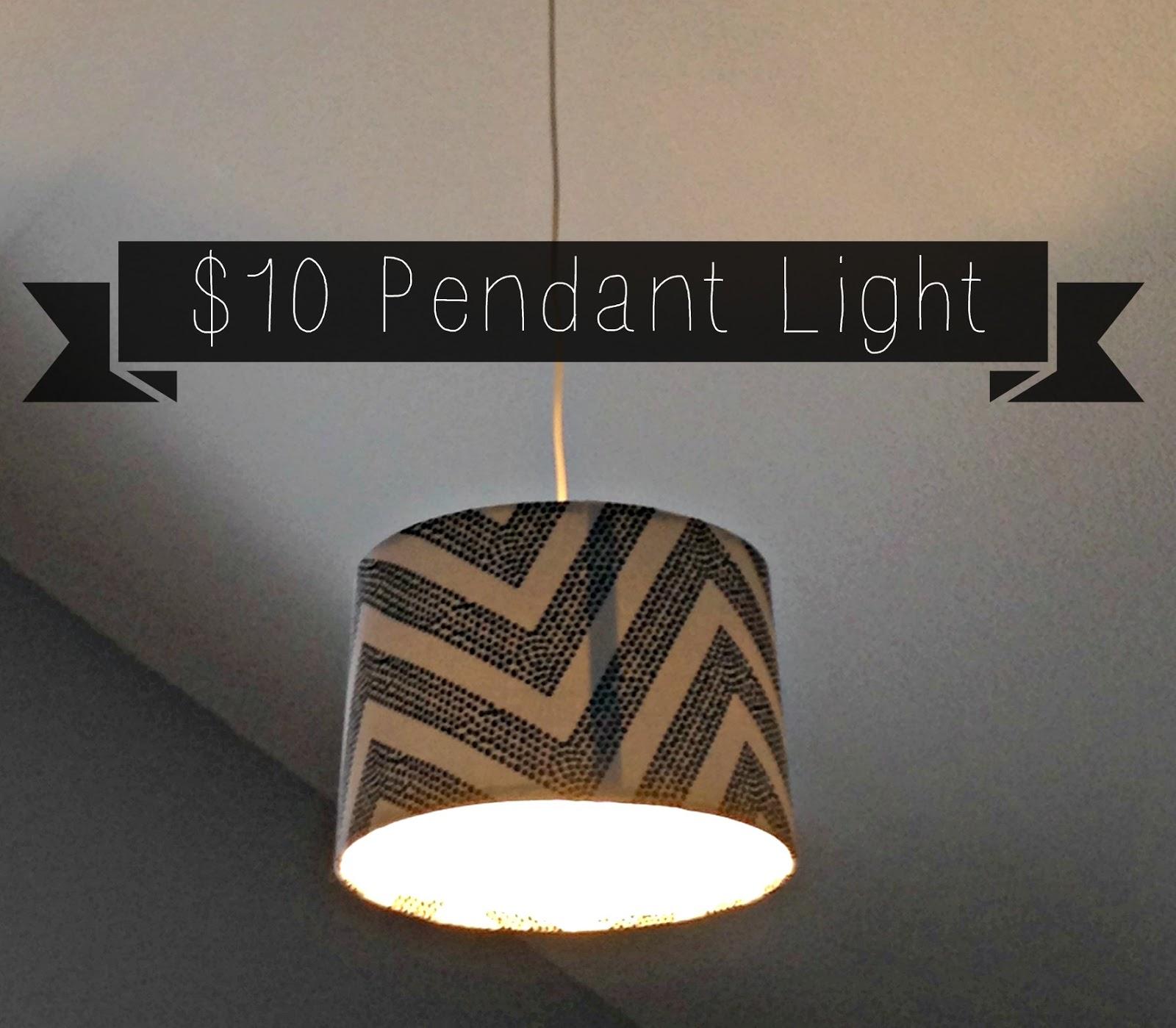 DIY $10 Shade Pendant Light - Putter Home