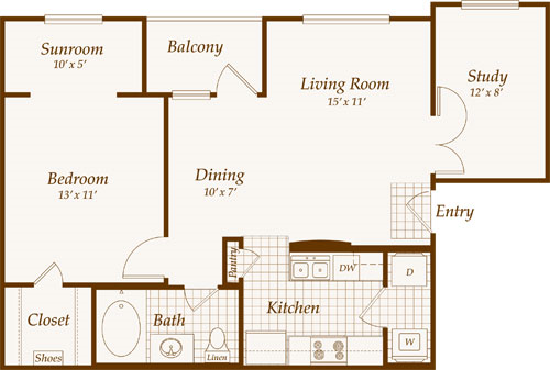 Western Home Decorating 2011 Apartment Floor Plans