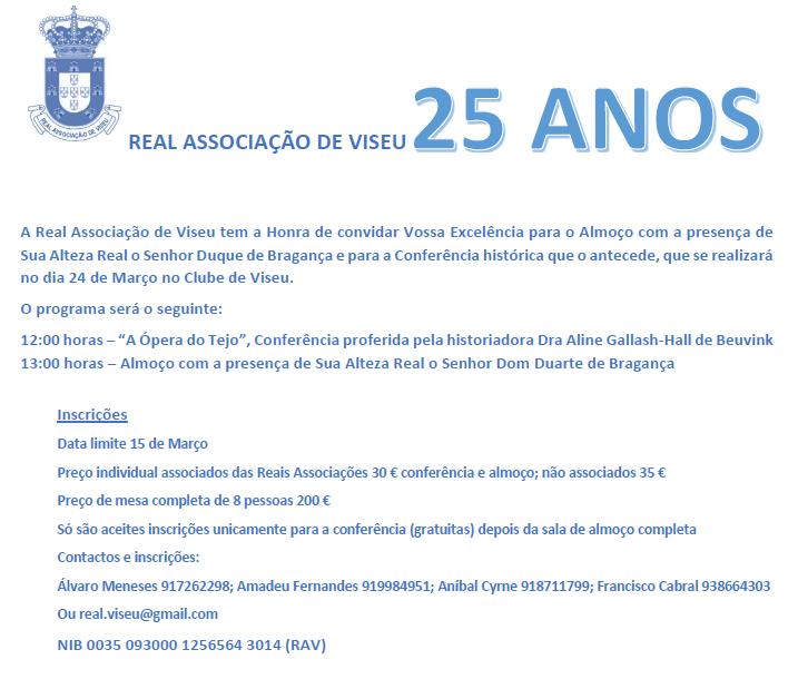 25º ANIVERSÁRIO DA REAL ASSOCIAÇÃO DE VISEU