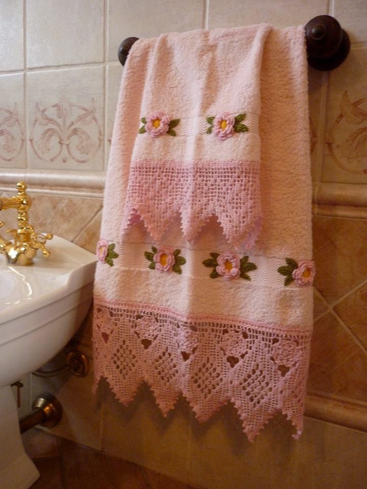 Shabby amelia asciugamani romantici in un bagno ancora for Bagno romantico
