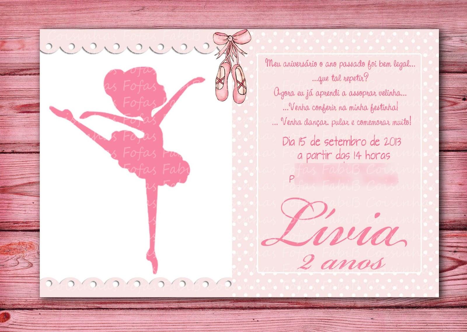Fabib Convite Bailarina