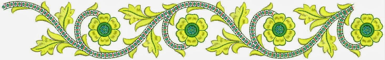goue kleur Griekse borduurwerk kant grens