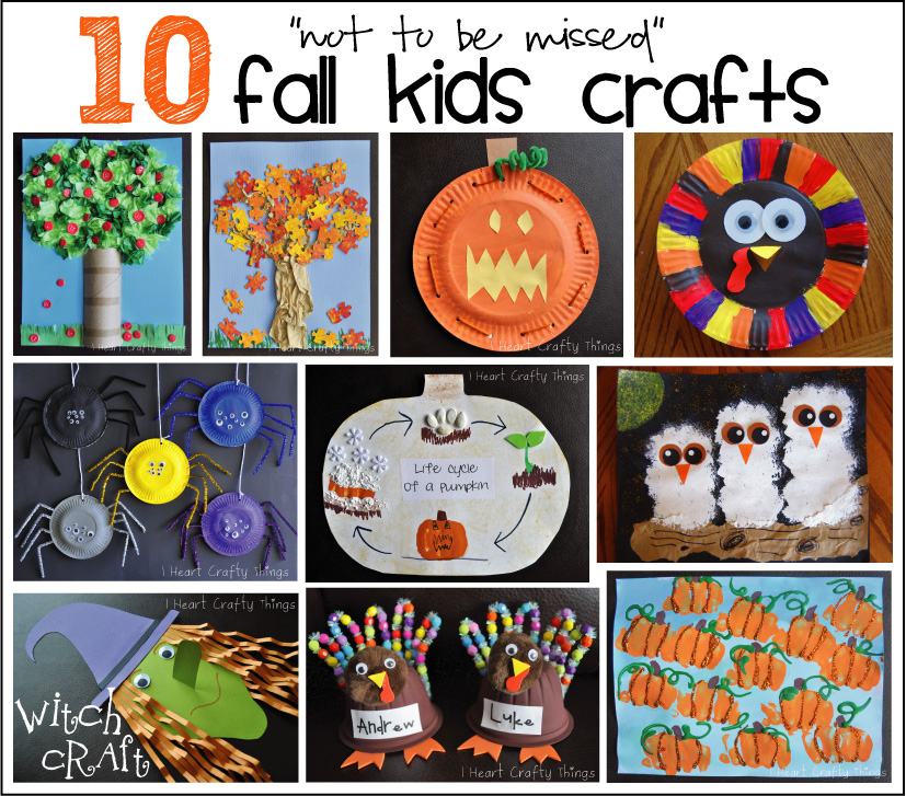 Fall Kid Craft Ideas Part - 39: ... Favorites Weu0027ve Created Over The Last Couple Years So I Wanted To Share  10 Of My Favorite Fall Kids Crafts. You Will Find The Links Below The  Picture.