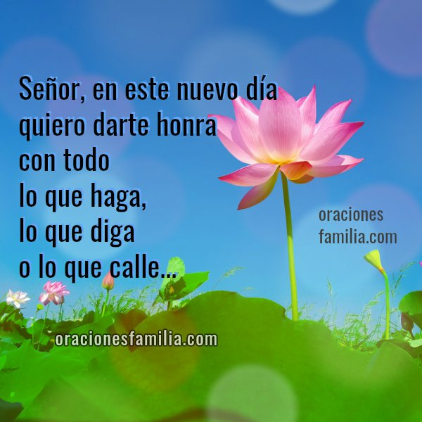 oraciones familia en este día, frases con oraciones, imagen con oración corta de la mañana, Mery Bracho