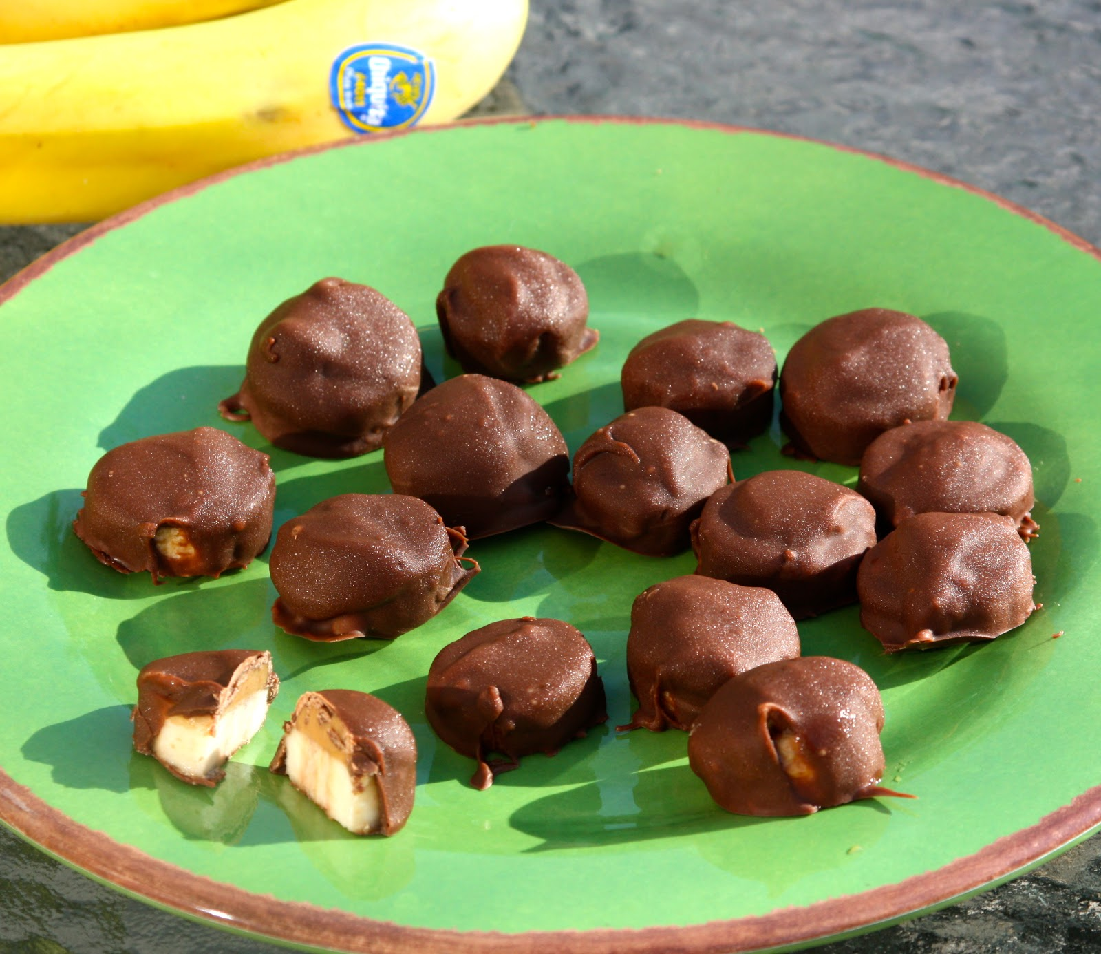 My Recipe Box: Chocolate Covered Banana Bites