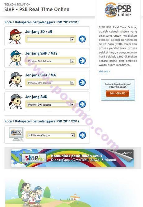PSB - PPBDB SD SMP SMA SMK Online 2012-2013